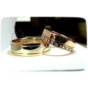 Изготовление золотых обручальных колец на заказ Артикул № 5105 фото