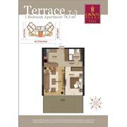 Элитные квартиры с террасами. 2-комнатные квартиры на втором этаже фото