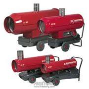 Нагреватели воздуха- стационарные передвижные газовые электрические на дизельном топливе на отработанном масле промышленного и бытового назначения фото