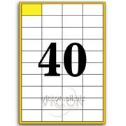 Этикетки самоклеящиеся белые, 40 на листе. размеры: 52.5 x 29.7 mm EADZ40 фото