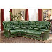 Угловой кожаный диван Леонардо фото