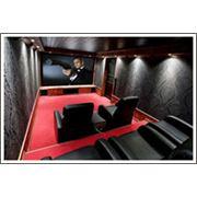 Акустическая обработка и декоративная отделка помещения для кинозала фото