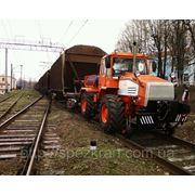 Локомобиль ММТ-2 на базе трактора (мотовоз маневровый, тяговый модуль, маневровый тягач) фото