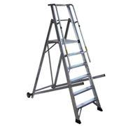 Лестница алюминиевая для складских помещений CAGSAN фото