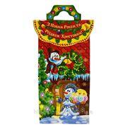 Новогодняя упаковка Домик со снеговиками