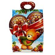 Новогодняя упаковка Мишка с Сердцем фото