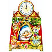 Новогодняя упаковка часы каминные фото