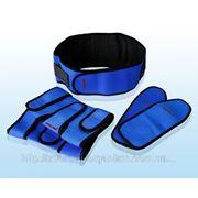 Турмалиновый комплект синий (накладка на глаза, пояс, наколенники) фото