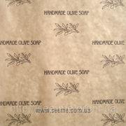 """Бумага для упаковки """" Handmade olive soap"""". фото"""