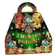 Новогодняя упаковка Шкатулка зеленая фото
