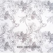 """Бумага белая упаковочная """"Flower"""" фото"""