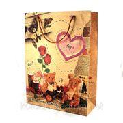 Подарочный крафт-пакет большой 32604 фото