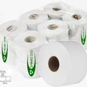 Туалетная бумага 200 метров (белая, эконом, 1 слой, упаковка 12 рулонов)