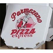 Коробки для пиццы 320*320*40, белая фото