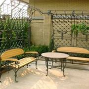 Кованная садовая мебель фото