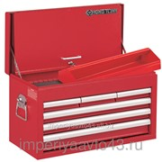 Ящик инструментальный, 6 ящиков и отсек, красный KING TONY 87411-6B фото