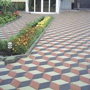 Мощение тротуарной плиткой дачного участка  фото