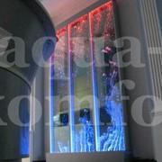 Воздушно-пузырьковая панель с пневматикой из стекла фото