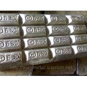 Олово ГОСТ 860-75, оловянно-свинцовые сплавы (припои ПОС) ГОСТ 21931-76, баббиты Б83, Б83С и Б16 ГОСТ 1320-74. фото