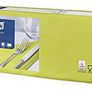 Салфетки бумажные Tork Advanced, 2-слойные 33х33, 200шт/уп, лайм 477840 фото
