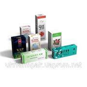 Производство картонной упаковки со шрифтом Брайля для лекарств и биодобавок фото