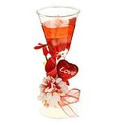 Свеча гелевая красная Цветок любви 4, 5х5, 3х14 см фото