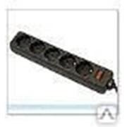 Сетевой фильтр 1,8 м черный 5 розеток Defender ES фото