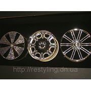 Инкрустация кристаллами Svarovski колёсных дисков фото