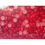 Полужемчуг красный 1,5мм (100шт) фото