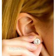 Прокол ушей (один прокол + серьга с камнем) фото