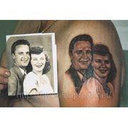 Татуировка портрета фото