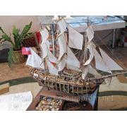 Изготовление эксклюзивных моделей парусных кораблей. фото