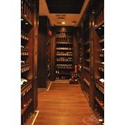 Стеллажи деревянные, стеллажи для вина фото
