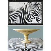 Композиция: панно Зебра и стол Зебра фото