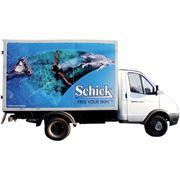 Реклама на бортах авто фирмы фото