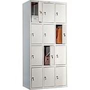 Металлический шкаф для раздевалок ШР 12х3х4 фото