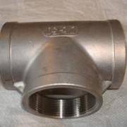 Тройник резбовой из нержавеющей стали AISI304 (08X18H10) AISI321 (08(12)X18H10T) фото