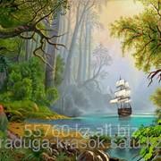 Картина стразами Таинственный остров 40х50 см фото
