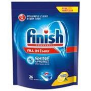 Таблетки для посудомоечных машин Finish All in 1 Лимон 26 шт (6001106128012) фото