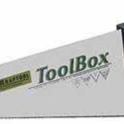 Ножовка KRAFTOOL TOOLBOX для тонкого пиления, 1-комп рукоятка, 11/12 TPI, 350мм. Артикул: 15012-35 фото