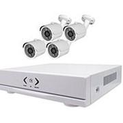 Комплект внутреннего видеонаблюдения Zodikam KIT4SB1 (4 внутренних IP камеры+регистратор)