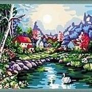 Картина Раскраска по номерам цифрам У ОЗЕРА фото
