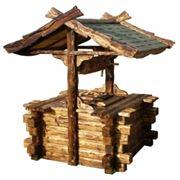 Деревянные домики для Колодцев фото