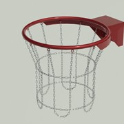 Кольцо баскетбольное антивандальное с цепью, порошковое окрашивание БКАн-45016 фото