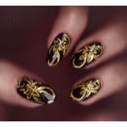 Наращивание ногтей: роспись китайская роспись лепка фото