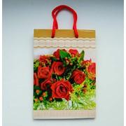 Подарочная сумочка, пакет подарочный, 20см*14см*6см фото
