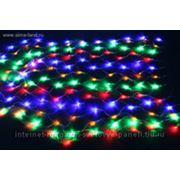 Сетка черные нити 1,2*1,1 м LED-144-240V с контролл 8 р, мульти фото