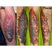 Переделка татуировок фото