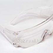 Очки защитные прозрачные типа Озон (белые) фото