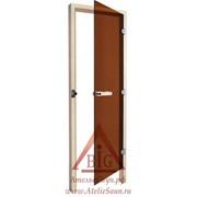 Дверь для бани Sawo 730-3SGАR (7х19, бронза, правая, без порога, осина)